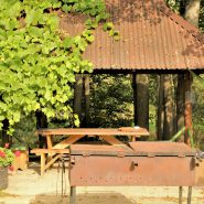 Small gazebo with grill
