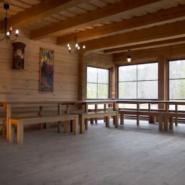 Pirmoji salė su židiniu